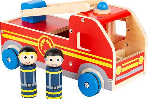 voiture pompier en bois, jouet en bois, jouets en bois, jouets de léa, jouet montessori, jouets montessori