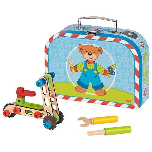 kit construction véhicules, jouet en bois, jouets en bois, jouets de léa, goki