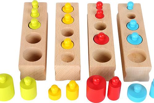 cylindres, montessori, jouet éducatif, jouets en bois, jouets de léa