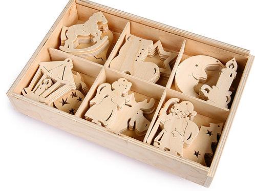 décoration à suspendre, décoration de noël, DIY, jouets en bois, jouets de léa