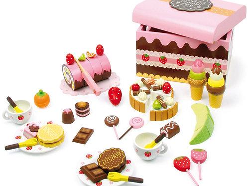 caisse à friandises, dinette, jouets en bois, jouets de léa, jouet en bois, jouet montessori, jouets montessori