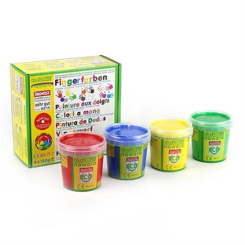 Peinture aux doigts 4 couleurs