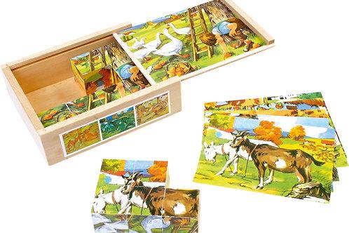 puzzle, puzzle cube, jouets en bois, jouets de léa