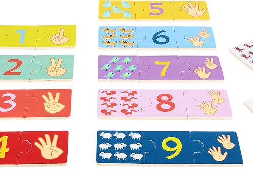 puzzle éducatif, apprendre à compter, jouet éducatif, jouets en bois, jouets de léa