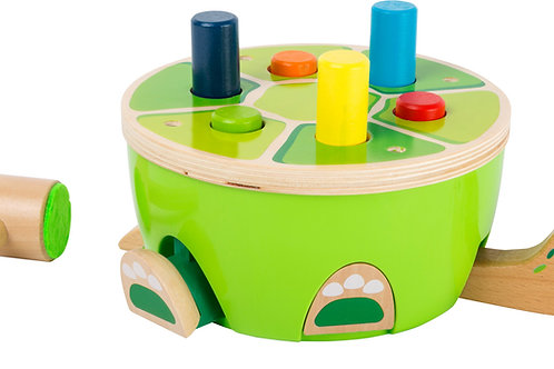 jouet pour bébé, jouet à marteler, tape sur la tortue, jouets en bois, jouets de léa