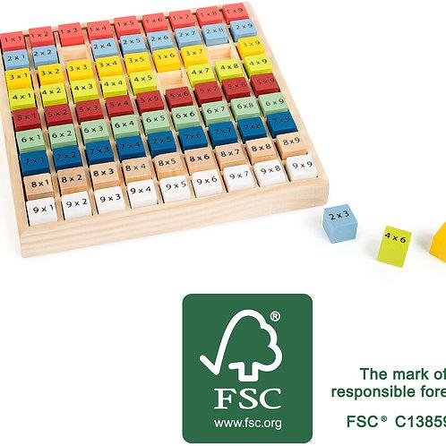 table de multiplication, apprendre table de multiplication, jouet éducatif, jouets en bois, jouets de léa