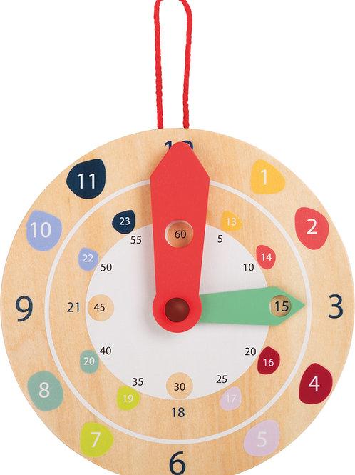 apprendre à lire l'heure, horloge, jouet en bois, jouets en bois, jouets de léa, jouet montessori, jouets montessori