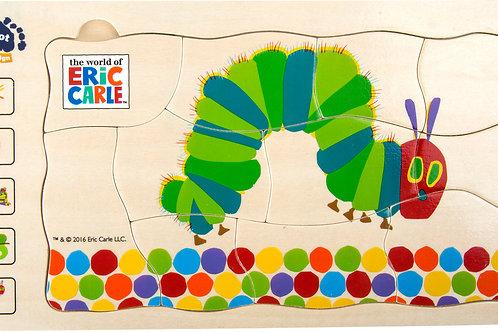 jouet montessori, puzzle à étages, puzzle à couches, la chenille qui fait des trous, jouets en bois, jouets de léa