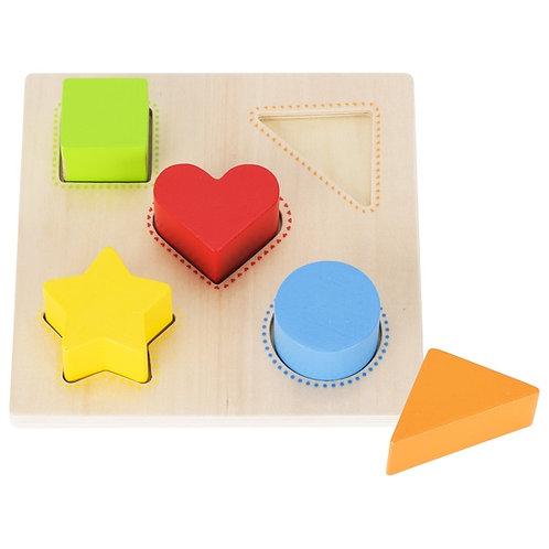 assortir les formes et les couleurs, jouet montessori, jouet en bois, jouets en bois, jouets de léa, goki