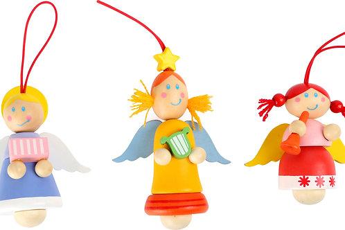 décoration à suspendre, ange, décoration de noël, jouets en bois, jouets de lea