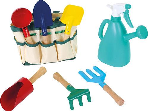 pelle, rateau, enfant, jardiner, jouets en bois, jouets de léa