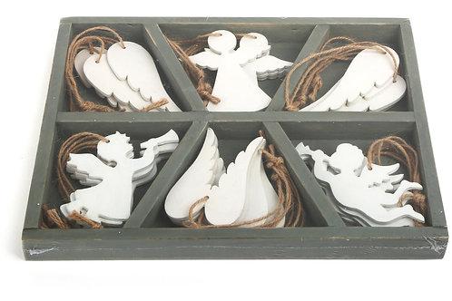 Décoration à suspendre, décoration de noël, ange, jouets en bois, jouets de léa