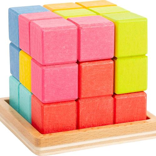 puzzle 3D, tétris, jouets en bois, jouets de léa