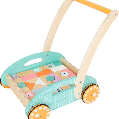 jouet montessori, chariot de marche, blocs de construction, jouet en bois, jouets en bois, jouets de léa