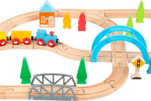 chemin de fer en bois, jouet en bois, jouets en bois, jouets de léa, jouet montessori, jouets montessori