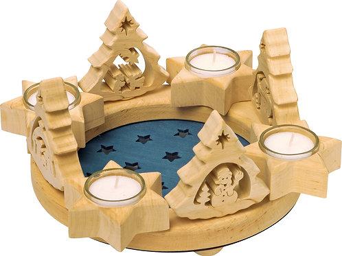 couronne de l'avent, noël, décoration de noël, centre de table, jouets en bois, jouets de léa