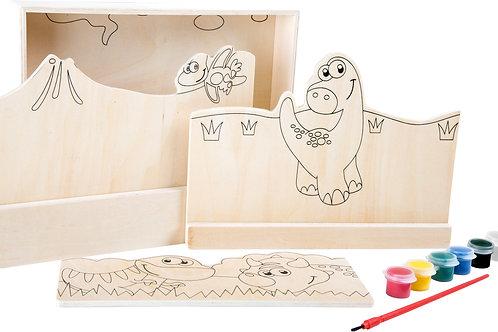 peinture sur bois, dinosaures, jouets en bois, jouets de léa