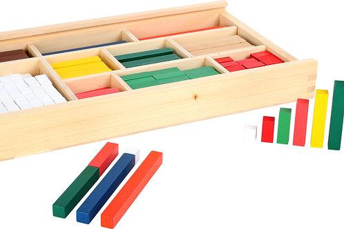 bâtonnets de calcul, réglette cuisenaire, jouet en bois, jouets en bois, jouets de léa, jouet montessori, jouets montessori