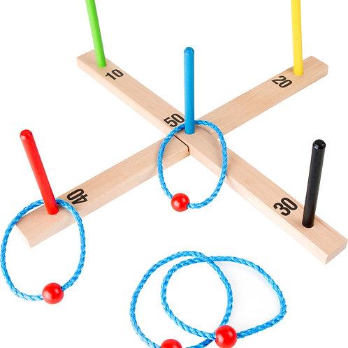 lancer d'anneaux, jouets en bois, jouets de léa, jeu de plein air