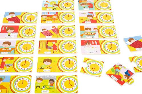 puzzle éducatif, apprendre l'heure, jouet éducatif, jouets en bois, jouets de léa