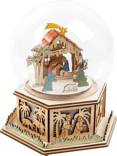 boîte à musique, décoration de noël, crèche, jouets en bois, jouets de léa