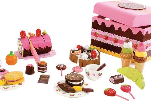 caisse à friandises, dinette, jouets en bois, jouets de léa