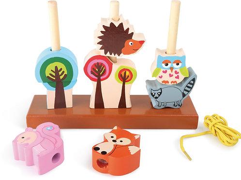 jeu à emboiter, jouets pour bébé, jouets en bois, jouets de léa, jouets montessori