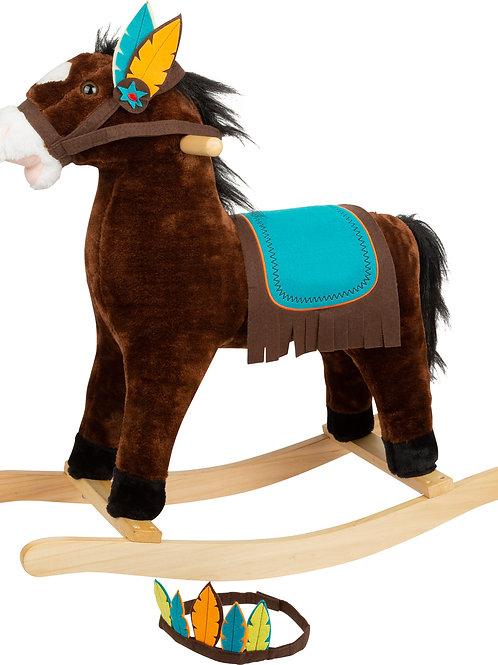 cheval à bascule, déguisement indien, small foot, jouet en bois, jouets en bois, jouets de léa, small foot