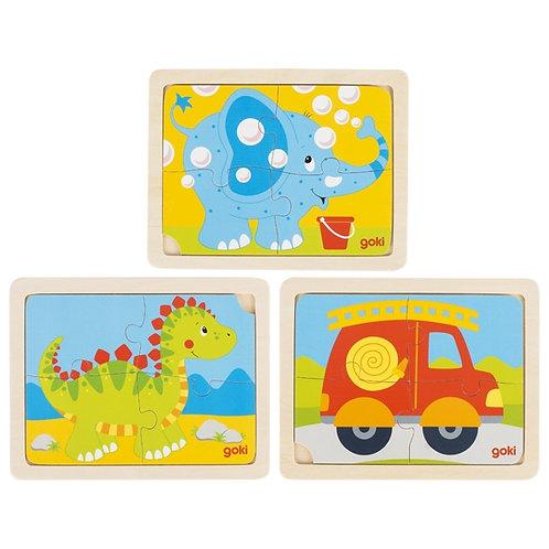 jouet montessori, puzzle en bois, jouet en bois, jouets en bois, goki, jouets de léa