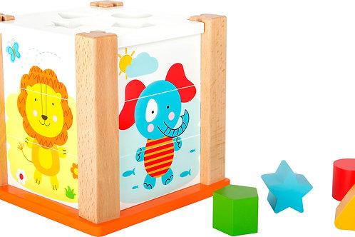cube à formes, jouets montessori, jouet en bois, jouets en bois, jouets de léa, small foot