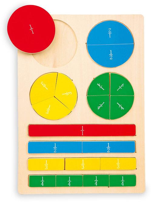 puzzle pros du calcul, apprendre les divisions, jouets en bois, jouets de léa