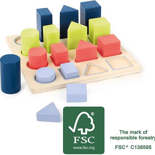 puzzle géométrie, apprendre les formes géométriques, jouet éducatif, jouets en bois, jouets de léa