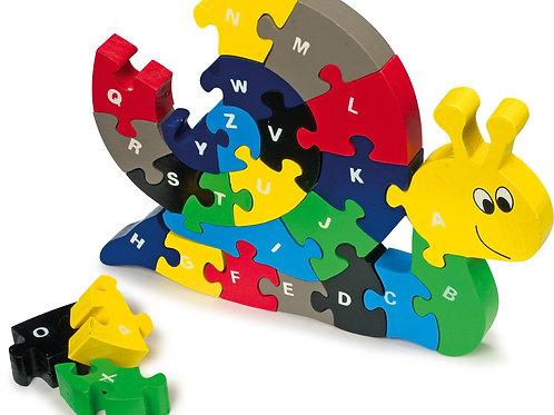 jouet montessori, puzzle en bois, puzzle abc escargot, jouets en bois, jouet en bois, jouets de léa