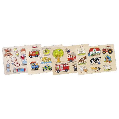 puzzle en bois, puzzle à encastrements, jouet en bois, jouets en bois, goki, jouets de léa