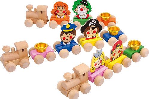 train, anniversaire, décoration, jouets en bois, jouets de léa