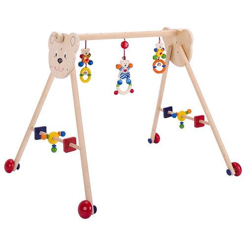portique d'activités, heimess, jouet en bois, jouets en bois, jouets de léa