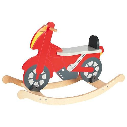 moto à bascule, jouet en bois, jouets en bois, jouets de léa, goki