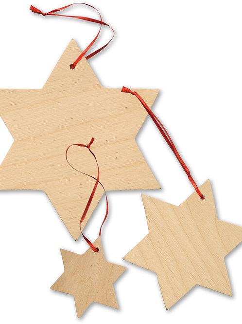étoile, décoration à suspendre, décoration de noël, DIY, jouets en bois, jouets de léa