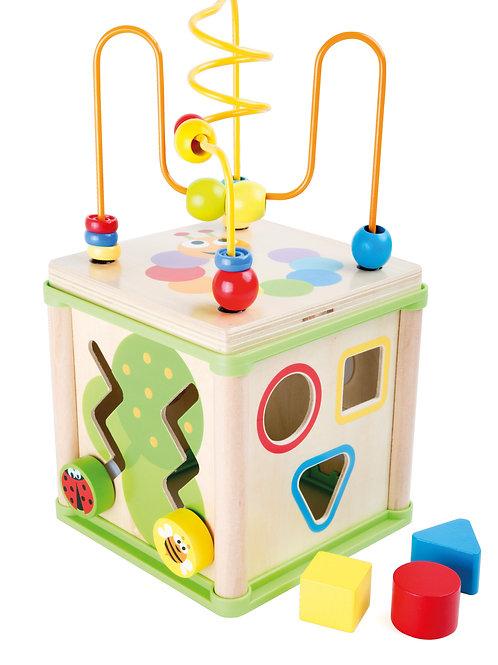 jouet montessori, cube de motricité, jouet en bois, jouets en bois, jouets de léa