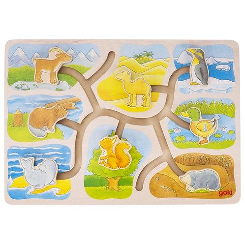 jouet montessori, puzzle, jouet en bois, jouets en bois, goki, jouets de léa