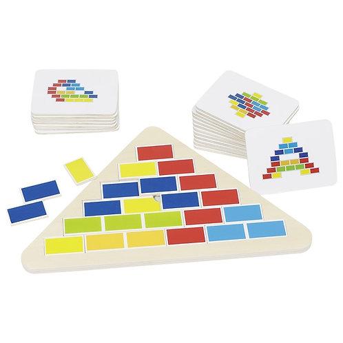 puzzle triangle segmenté, puzzle bois, jouet en bois, jouets en bois, jouets de léa, goki