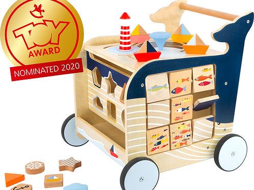 chariot de marche, small foot, jouet en bois, jouets en bois, jouets de léa, jouet montessori, jouets montessori