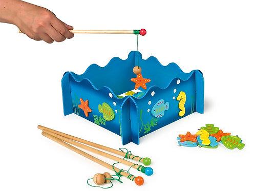 pêche à la ligne, jouets en bois, jouets de léa