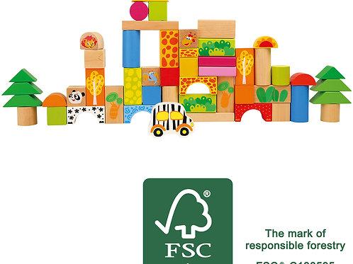 bloc de construction, jouet en bois, jouets en bois, jouets montessori, jouets de léa, jouet montessori