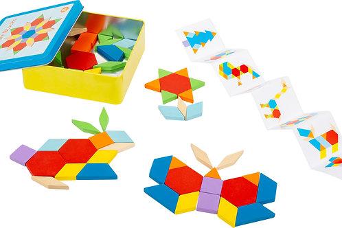 tangram, jouet montessori, jouets montessori, jouets de léa, jouet en bois, jouets en bois