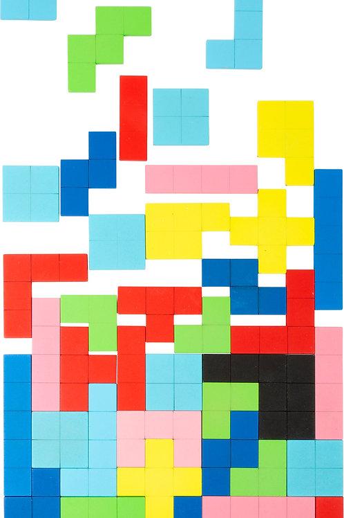 puzzle en bois, tétris, jeu de construction, jouets en bois, jouets de léa