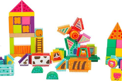 blocs à picots, blocs de construction, jouet en bois, jouets en bois, jouets de léa