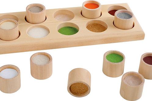 le toucher, mémo tactile, jouet en bois, jouets en bois, jouets de léa, jouet montessori, jouets montessori