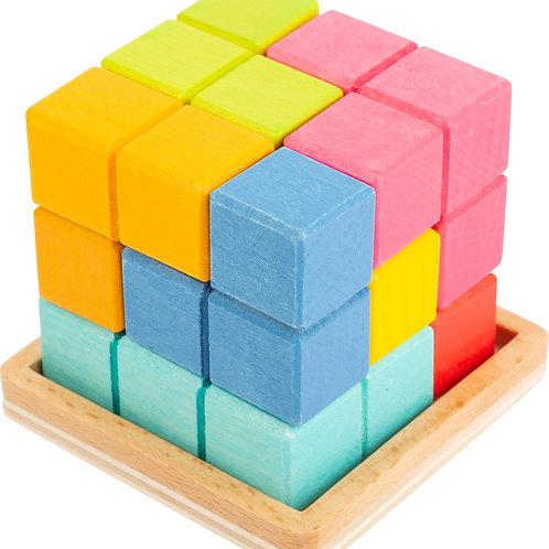 jouet montessori, puzzle 3D, tétris, jouets en bois, jouets de léa, jouet en bois, jouets montessori