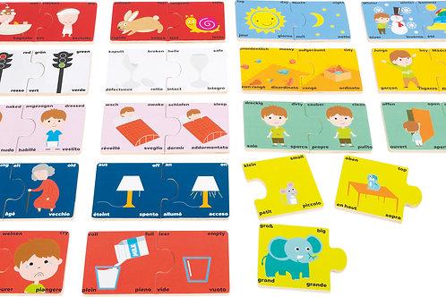 puzzle éducatif, les contraires, jouet éducatif, jouets en bois, jouets de léa